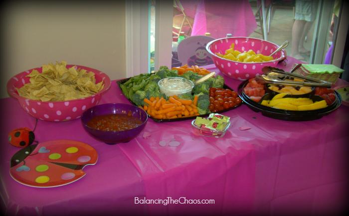 Ladybug Birthday Party Appetizers