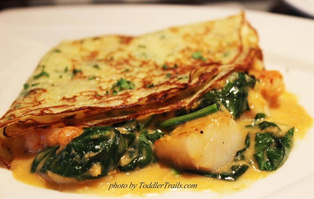 Petite Seafood Crepe, Mimi's Cafe