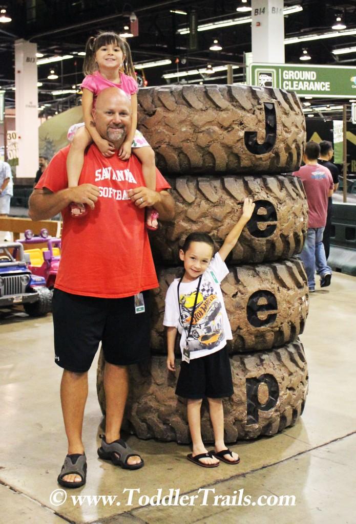 Family at OC Auto Show