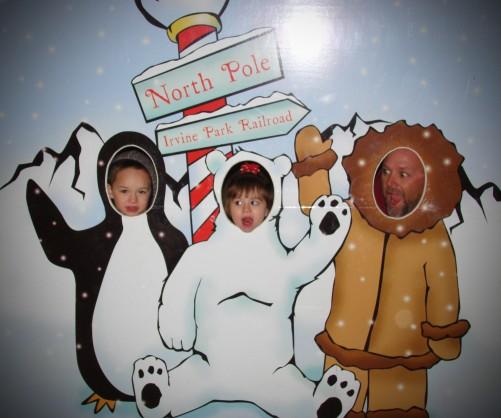 Fun at Christmas Train Irvine Park Railroad