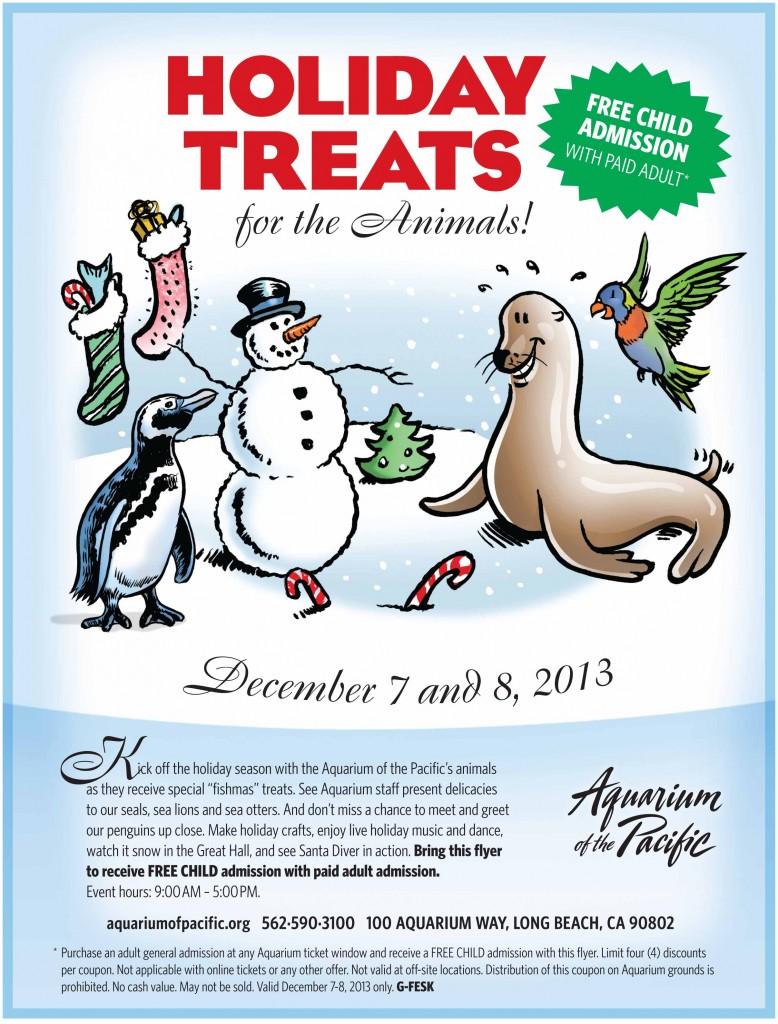 Aquarium Of The Pacific Holiday Treats Flyer 2013
