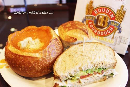 Boudin Turkey Avo and Tomato Soup