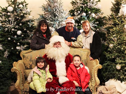 Family Photo Irvine Park Railroad Christmas Train