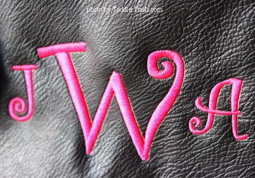 Initials Bag Embroidery