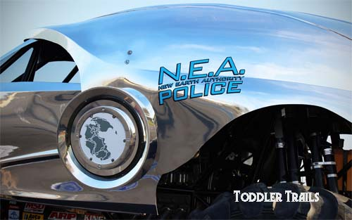 New Earth Authority Police Monster Truck Logo
