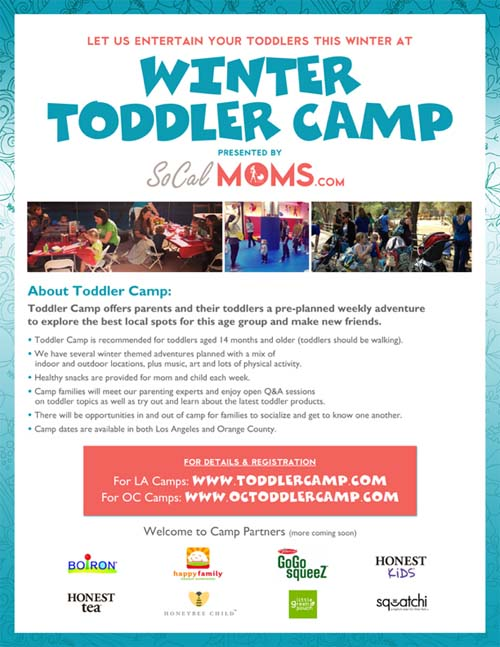 SoCalMoms Toddler Camp