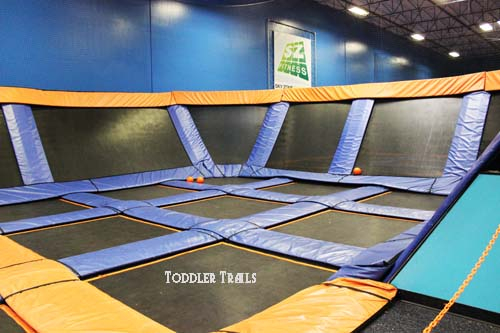Sky Zone Dodgeball Court