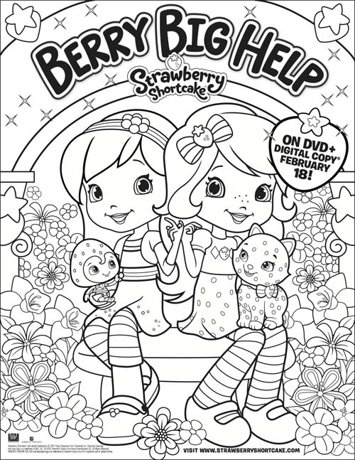 Strawberry Shortcake Berry Big Help Color Sheet