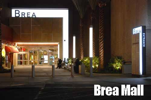 Brea Mall at Night