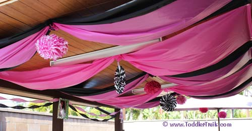 Fabulous 5 Birthday Party Colorful Drapes