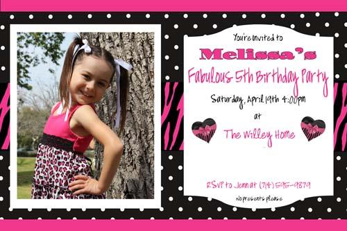 Melissa Invitation