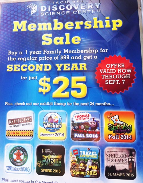Discovery Science Center Membership
