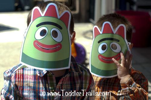 Yo Gabba Gabba masks