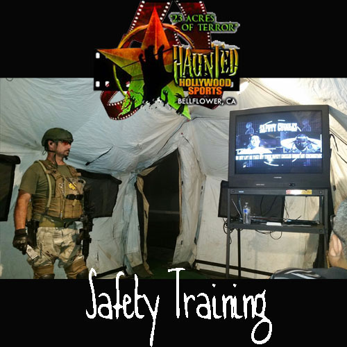 Haunted Hollywood Sports, Safety Training, Airsoft