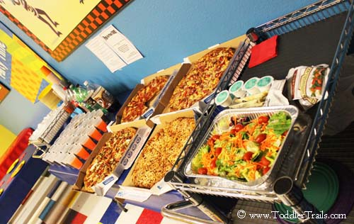 Pump It Up Party Food