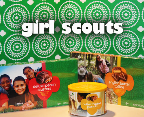 Girl Scouts Nuts and Magazines