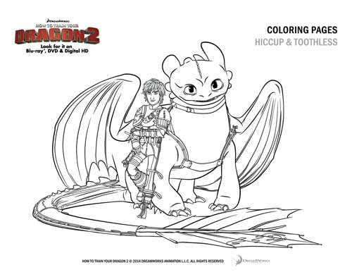 How To Train Your Dragon 2, Coloring Page, Free Printable
