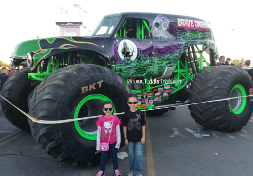 Monster jam, Grave Digger, Angels Stadium, Pit Party