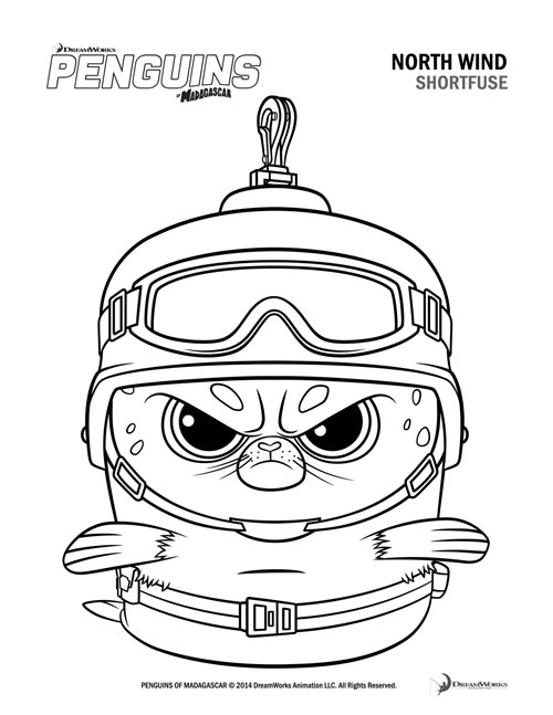 Penguins of Madagascar, Coloring Page