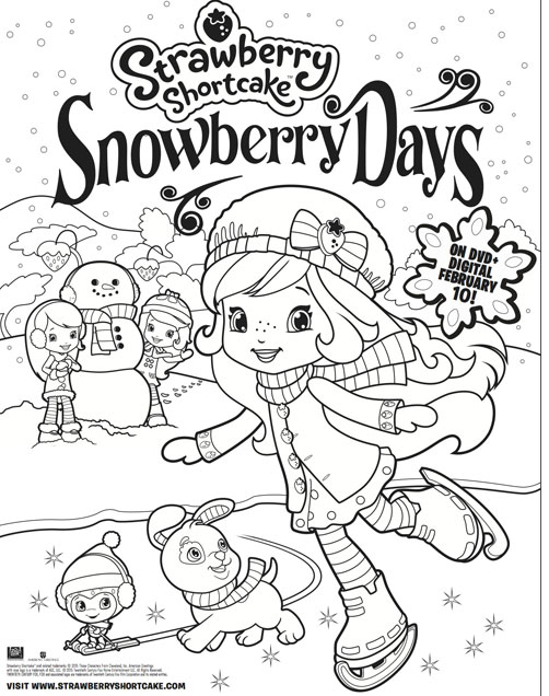 Strawberry Shortcake Snowberry Days Free Printable, Coloring Sheet