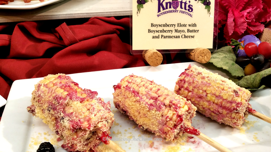 Boysenberry Elote at Knotts Boysenberry Festival