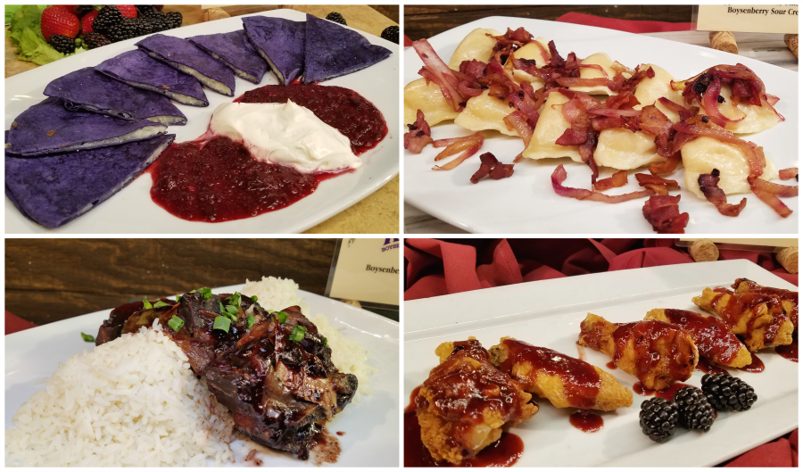 Boysenberry Festival Quesadillas, Pierogies, Short Ribs and Chicken Wings