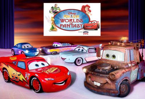 Disney On Ice, worlds of Fantasy, Lightening McQueen, Mater