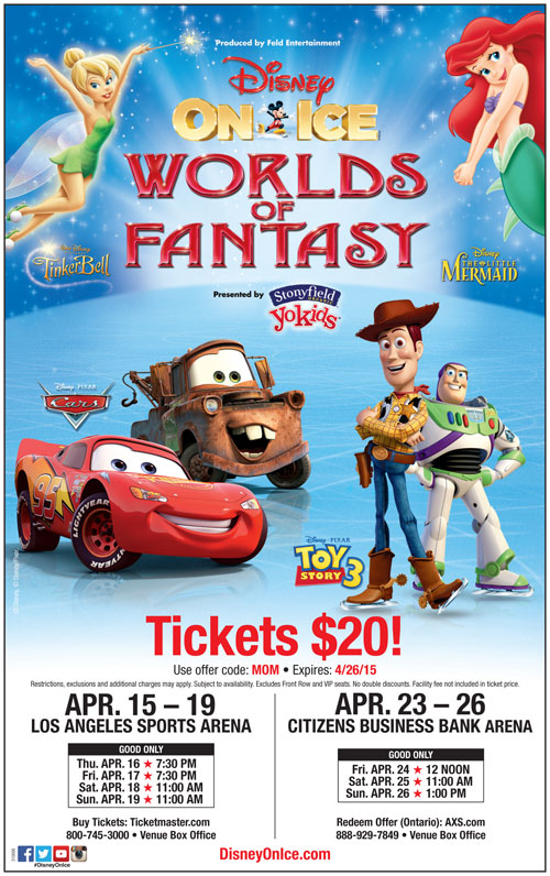 Disney On Ice, Ticket Discount Worlds of Color
