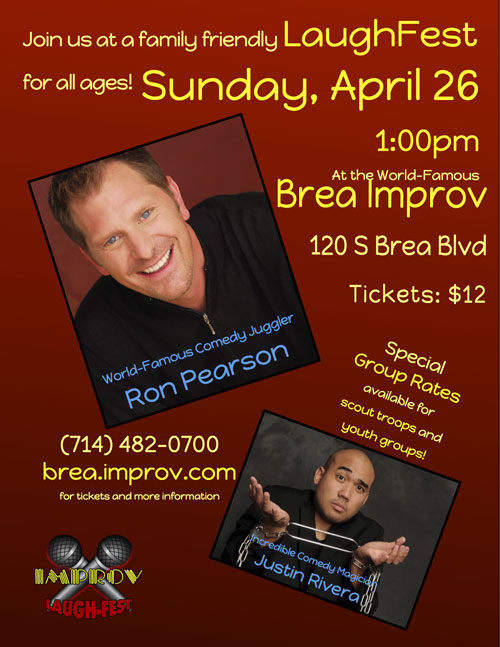 Brea Improv, Laugh Fest, Family Show