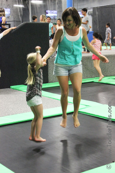 Get Air Surf City Trampoline Park, family fun, family jump, open jump huntington beach