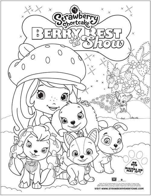 Free Strawberry Shortcake And Friends Coloring Pages, Download ... | 647x500