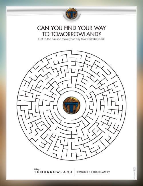 Walt Disney Pictures Tomorrowland Maze Printable, Free Printable
