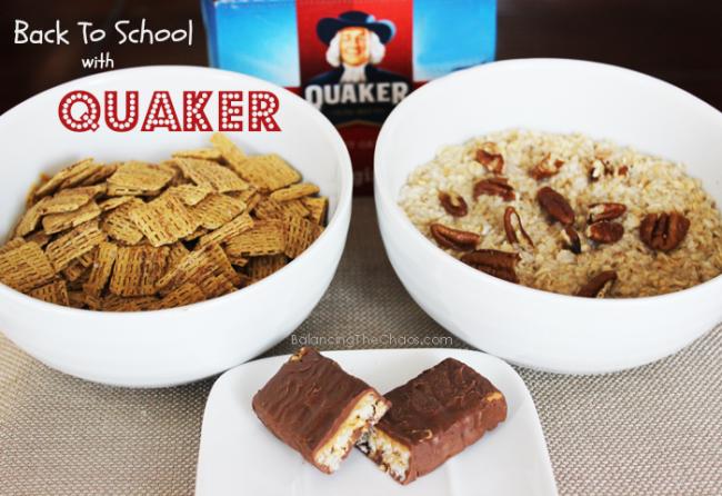 Quaker Time Back to School, ad, collective bias, BalancingTheChaos.com