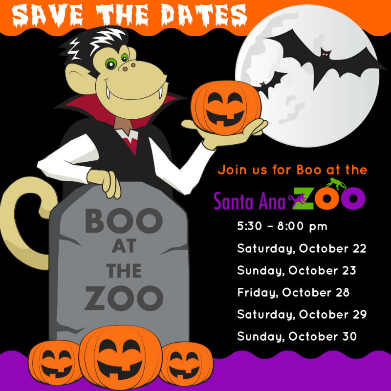 Boo at the Santa Ana Zoo Reminder