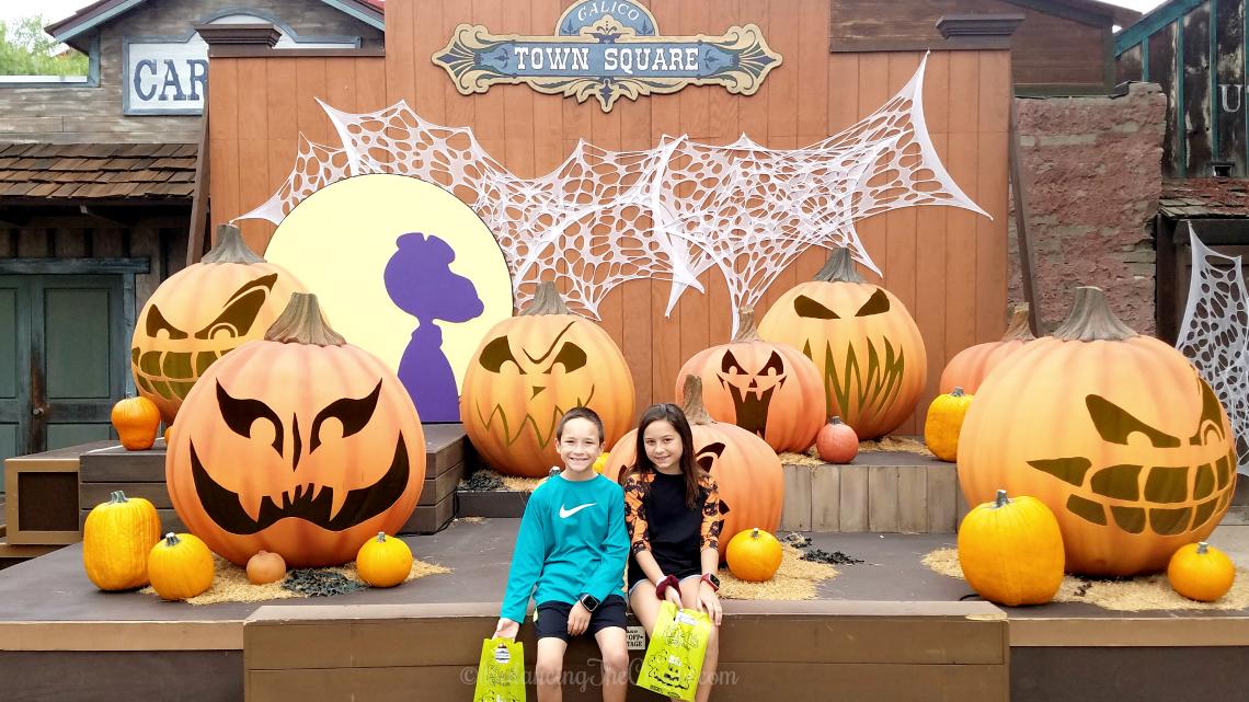 Calico Town Square at Knotts Spooky Farm spooky farm Linus Van Pelt's Great Pumpkin Patch