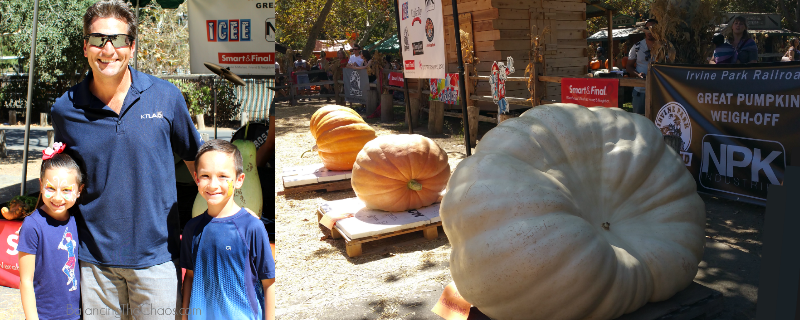 Irvine Park Railroad Great Pumpkin Weight Off and Henry DiCarlo