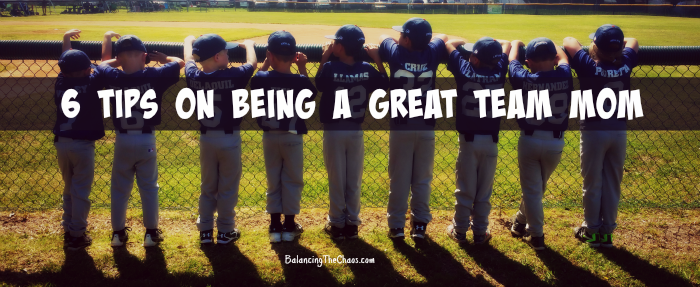6 tips on being a great team mom