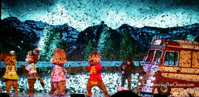 Alvin and The Chipmunks live snow