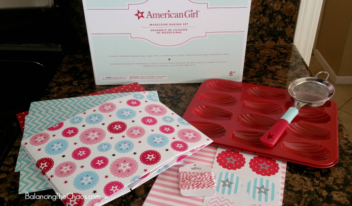 American Girl baking for Williams-Sonoma Madeleine Set