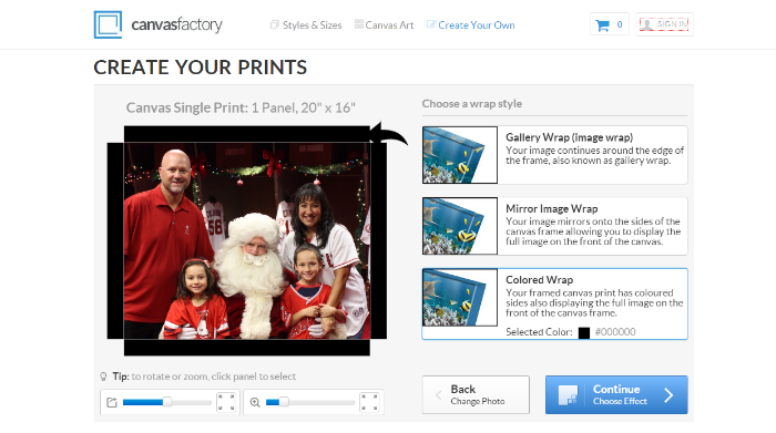 Canvas Factory Creating and Customizing