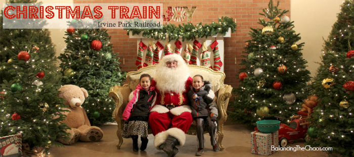Christmas Train to Santa at Irvine Park Railroad