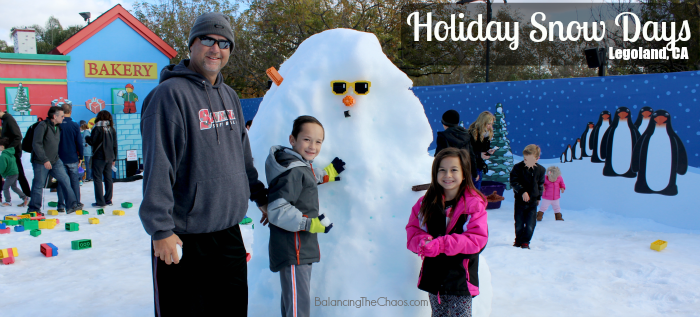 Holiday Snow Days 2015 Legoland CA