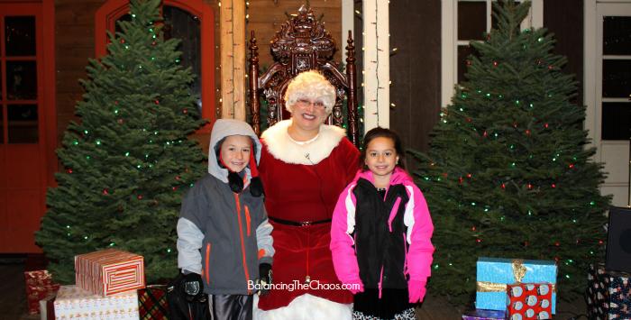 Mrs. Claus Christmas Train at Irvine Park Railroad