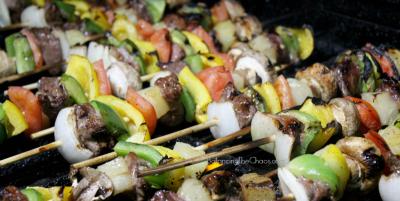 Simple Beef Skewers Grilling