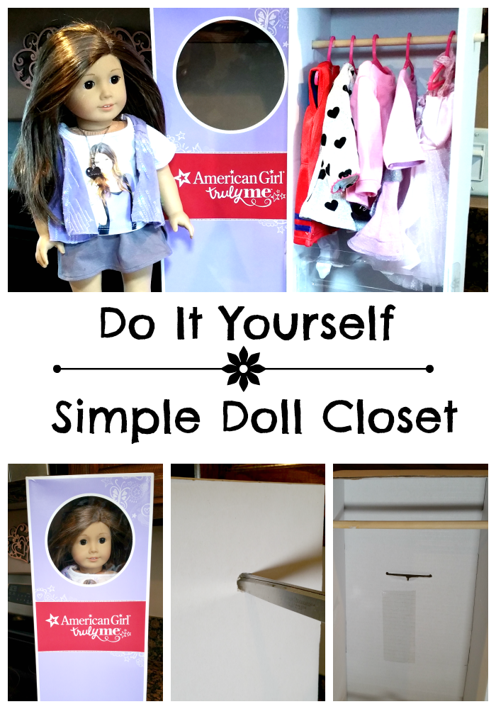 Do It Yourself Simple Doll Closet