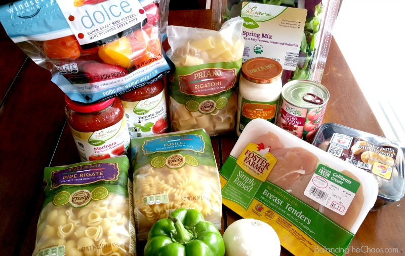 Aldi Food Market Items for Pasta