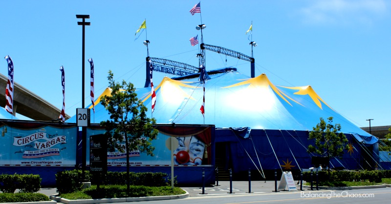 Circus Vargas Blue Yellow Big Top