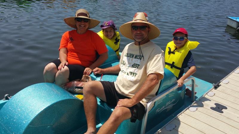 Pedal Boats at Santee Lakes
