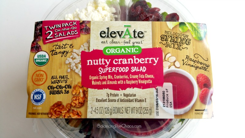 elevAte Organic salad nutty cranberry superfood salad