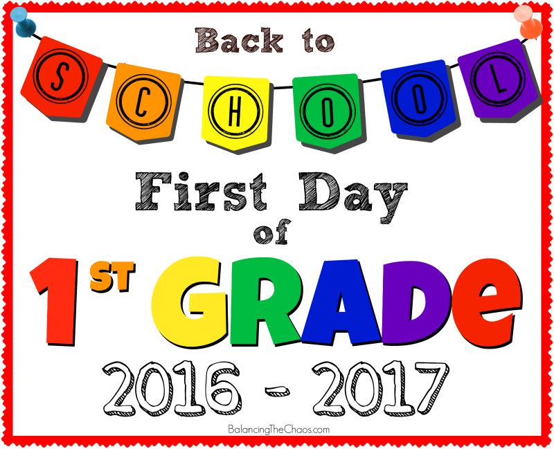 Back To School 2nd Grade Sign